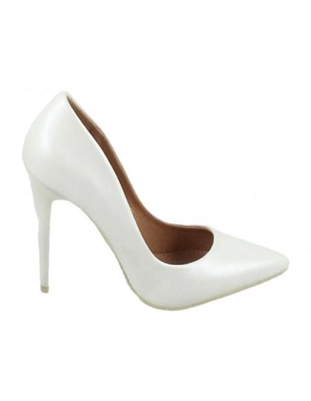 Timbos Zapatos - 120151 Salón Tacón Novia para Mujer, Color Blanco, Material Polipiel, Cierre sin Cordones, Colección Novias